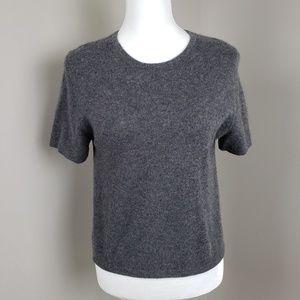 100% Cashmere Sweater Size Medium Short Sleeve